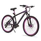 Cheap URSTAR 26″ Aluminum 24 Speed Mountain Bike with Front and Rear Disc Brakes (Purple)