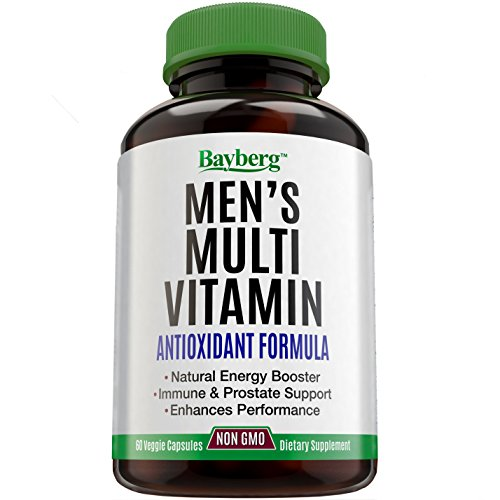 Men's Multivitamin. Antioxidant Energy Supplement with Minerals. Vitamin A C D E + Vitamins B1 B2 B3 B5 B6 B12 + Calcium, Zinc, Biotin and Folic Acid. Anti Aging, Immune & Prostate Support (Advanced Garlic Complex compare prices)