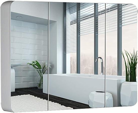 Armarios con espejo LED con Puerta baño Armario de Almacenamiento ...