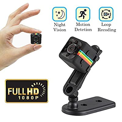 Cainda Mini Spy Camera Full HD 1080P with Night Vision and Motion Detection, Super Video Recorder Sports Camera, Small Camcorder, Mini Security Camera for Car Home and Office Surveillance