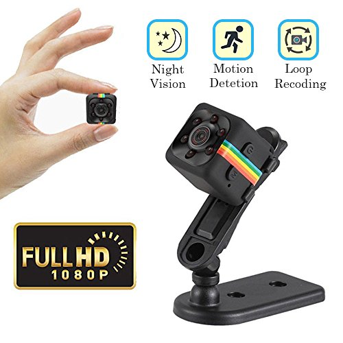 Cainda Mini Spy Camera Full HD 1080P with Night Vision and Motion Detection