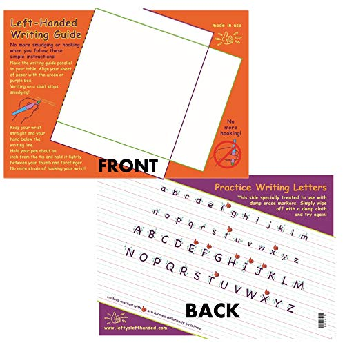 Painless Learning Educational Placemats for Kids Laminated Left Handed Writing Guide with Practice Writing Letters ()
