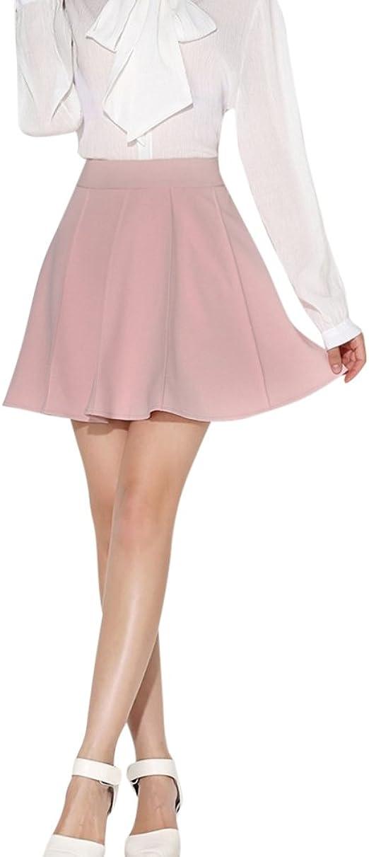 Falda Plisada Mujer Elástica Básica Patinador Corto Faldas Con ...