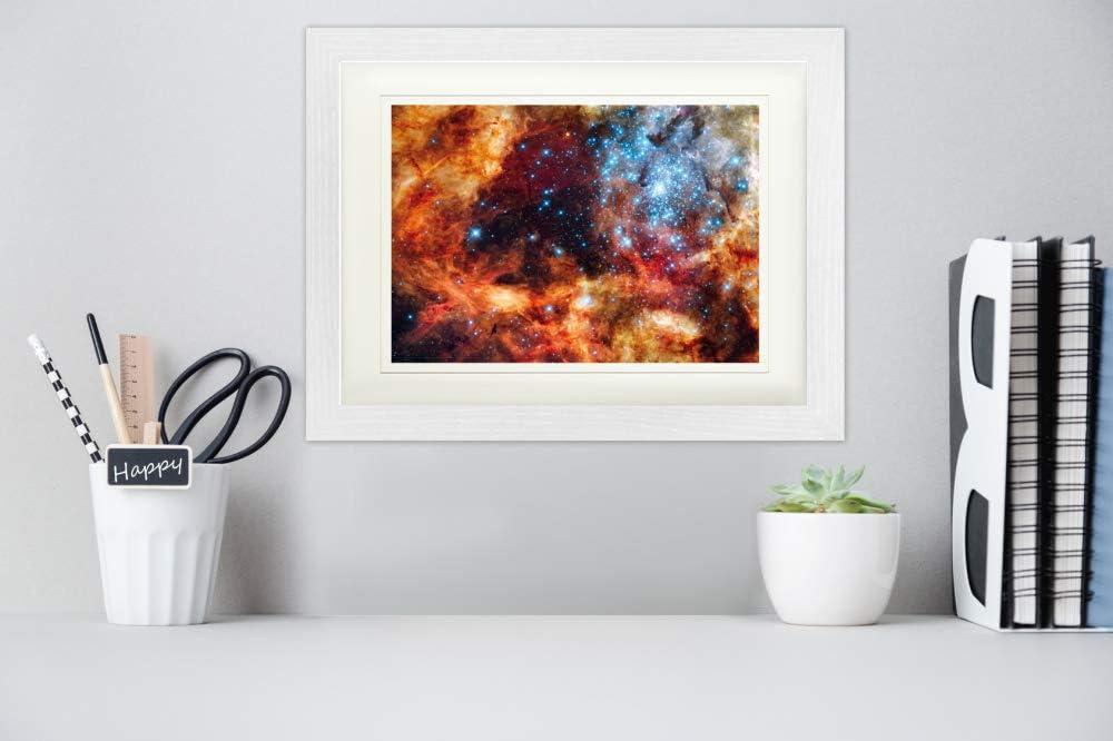 1art1 Der Weltraum Supersternhaufen R136 Beim Tarantelnebel Gerahmtes Poster F/ür Fans Und Sammler 80 x 60 cm