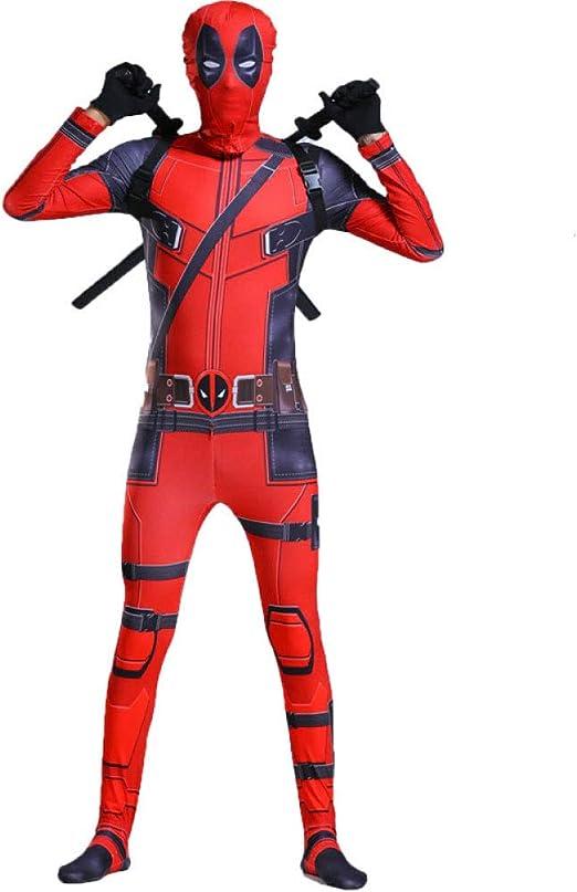 Hero-costume Disfraz de Deadpool para niños y Adultos, Disfraz de ...
