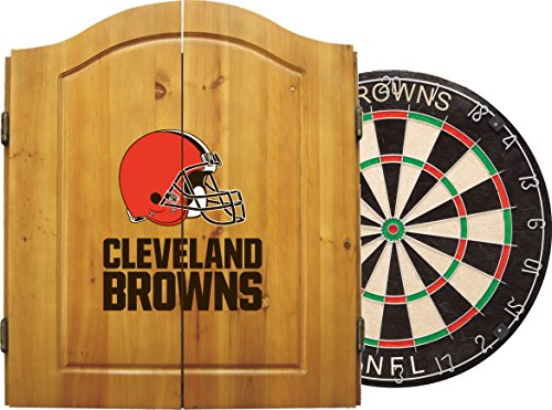 UPC 720802010204, Imperial Officially Licensed NFL Merchandise: Dart Cabinet Set with Steel Tip Bristle Dartboard and Darts, Cleveland Browns