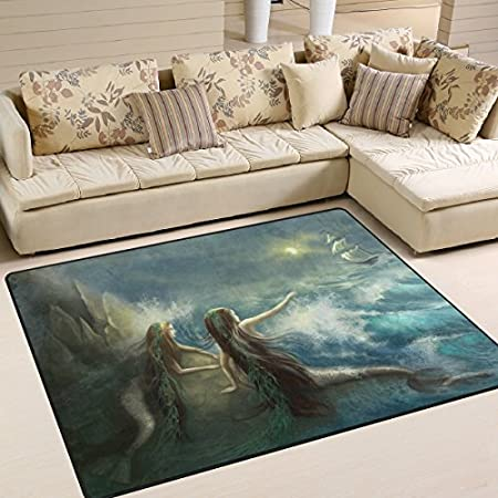 51sGDSnfoAL._SS450_ 50+ Mermaid Themed Area Rugs