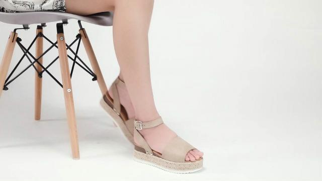 VEPOSE Women's Platform Sandals Wedge Espadrilles Adjustable Ankle Strap Open Toe Wedge Sandal
