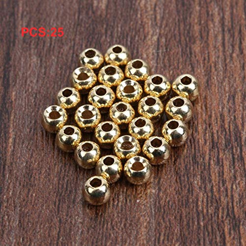 25 Pcs Fly Tying Beads Tungsten Beads Nymph Head Ball 2//2.4//2.8//3.3//3.8//4.6mm OH
