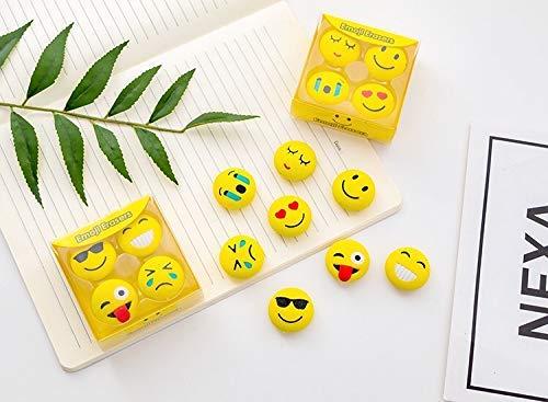 Sshakuntlay® Cute Newest Eraser School Stationary for Kids/B'Day Return Gifts (Smiley Eraser)