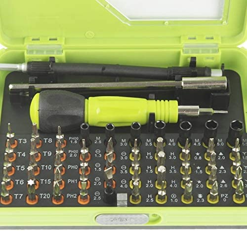 Deluxe Cell Phone Repair Tool Kits 53 in 1 Multi-Purpose Professional Precision Screwdriver Set Repair Kits