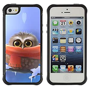 Jordan Colourful Shop@ Cute owl Cute Winter Owl Rugged hybrid Protection Impact Case Cover For iphone 5S CASE Cover ,iphone 5 5S case,iphone5S plus cover ,Cases for iphone 5 5S
