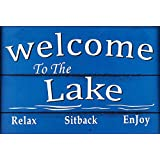 WELCOME TO THE LAKE - NEW 9X6 HIGH QUALITY HARDBOARD SIGN PLAQUE - THIS NOVELTY SIGN SHOULD BE USED INDOORS. ALL OF OUR SIGNS ARE HAND MADE TO ENSURE THE HIGHEST QUALITY! OUR SIGNS MAKE EXCELLENT GIFTS!