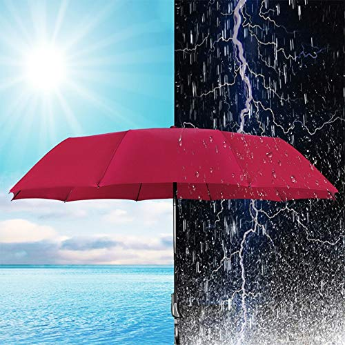 KEOA Windproof Travel Umbrella, Compact Folding Windproof Auto Open/Close Button,for Men Women and Kids(41Inch),Purple by KEOA (Image #1)