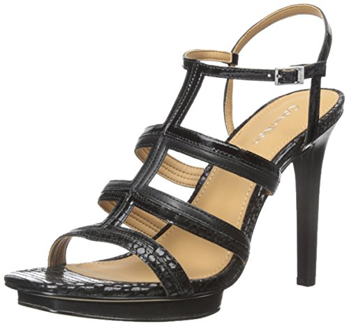 Black Platform Sandal Dress Calvin Klein Valene Black WoMen qxStTHY