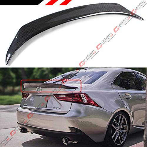 Cuztom Tuning Fits for 2014-2019 Lexus IS200T IS250 IS350 IS300 Duckbill Highkick Type Carbon Fiber Rear Trunk Spoiler - Fiber Carbon Is300 Lexus