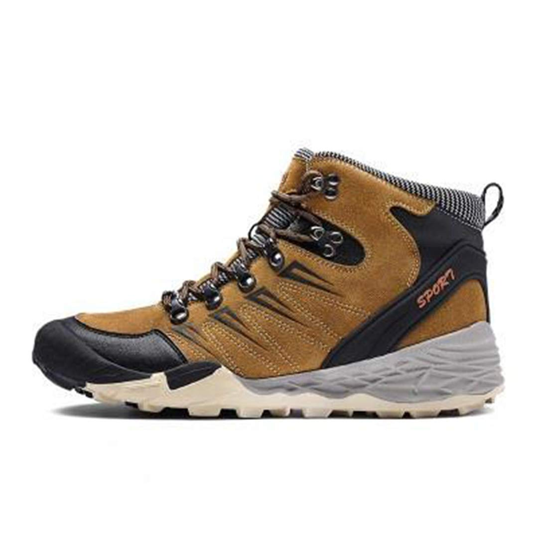 Men Hiking Boots Professional Mountaineering Shoes Waterproof Climbing Boots Outdoor Shoes For Man 9 10 by CNSDLK