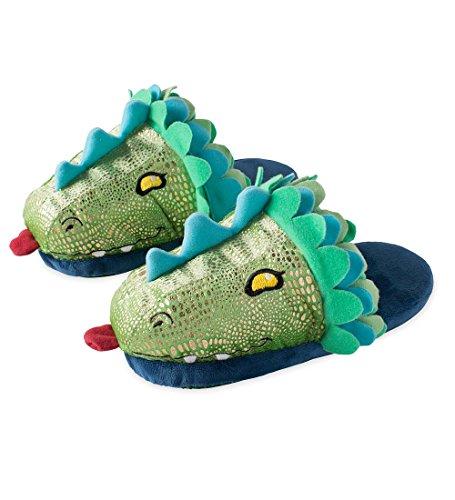 Kids' LED Light-Up Dragon Slippers - Large, Child's 3-5