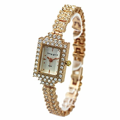 ShoppeWatch Ladies Dress Watch Bling Crystal Accented Rose Gold Bracelet Small Dial Reloj Dama SW9504RSWH