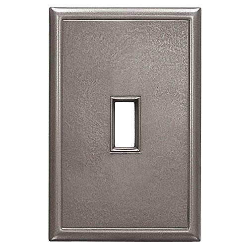 Single Toggle Light Switch Plates Questech Screwless Wall Plate Covers | No Visible Screws (Brushed ()