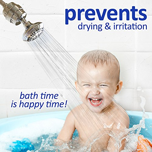 Universal Shower Head Water Filter - Works Best to Remove Chlorine & Hard Water with any Showerhead - 2 Water-Softener Replaceable Multi-Stage Cartridges - By Natural Rapids, Chrome by Natural Rapids (Image #5)