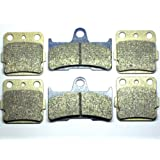 Master Chen Front Rear Brake Pads Brakes for Yamaha YFM 660 Grizzly FA084F FA344R ATV MC0064-PAD