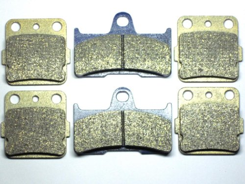 Grizzly Front (Master Chen Front Rear Brake Pads Brakes for Yamaha Grizzly YFM 660 YFM600 2002-2008 MC0064-001)