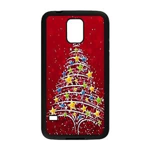 Samsung Galaxy S5 Cell Phone Case Black Christmas Tree BNY_6799600