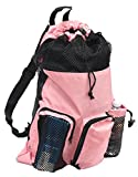 Adoretex Ultrastar Big Mesh Equipment Sport Drawstring Gym Swim Bag - UMB001 - Pink