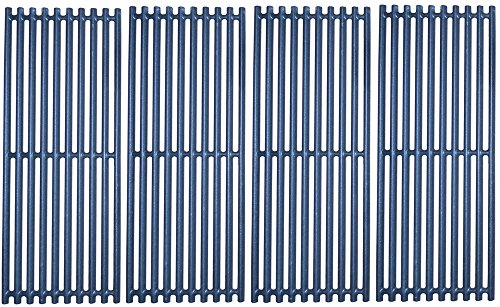 Music City Metals 61134 Matte Cast Iron Cooking Grid Replacement for Gas Grill Models Charbroil 463241413 and Charbroil 466241413, Set of 4 by Music City Metals