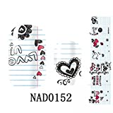 Good-looking Full Self Foils Art Adhesive Nail Stickers Type Code NAD0152
