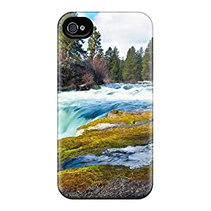 Purecase Gorgeous Waterfall Durable Iphone 4/4s Tpu Flexible Soft Case