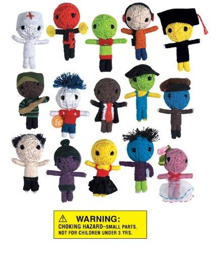String VooDoo Dolls – Set of 15 Career Dolls (Doctor, Cop, Basketball Player etc), Baby & Kids Zone