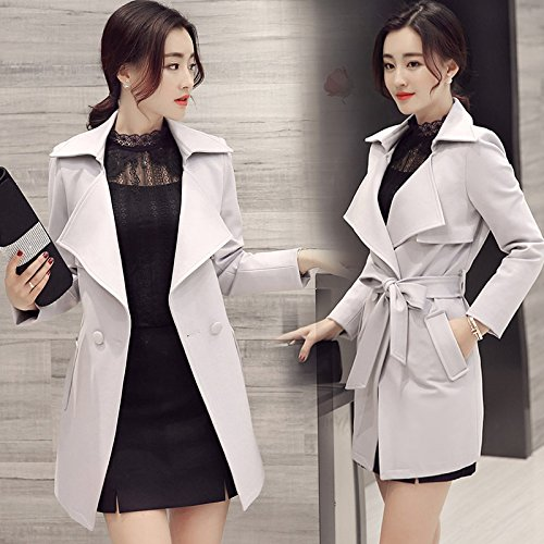 And Large Xuanku Coat Video Section Autumn Women Long Grey Jacket Leisure Code The In Thin Spring Sau Thin Air Outer qnqrOwza