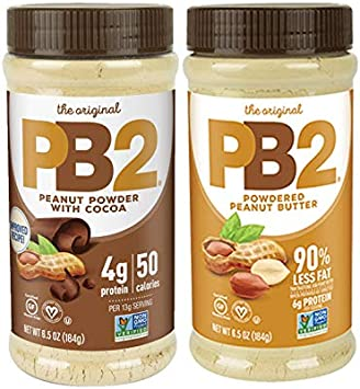 PB2 Powdered Peanut Butter and PB2 with Premium Chocolate. (Pack ...