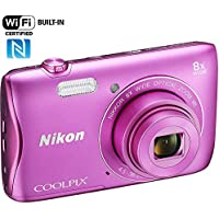 Nikon COOLPIX S3700 20.1MP Digital Camera with 8x Optical Zoom HD Video and Built-In Wi-Fi (Pink)(Certified Refurbished) Review Review Image