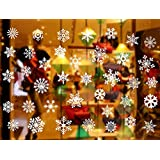 Christmas Snowflake Window Decals Clings Decoration Window Sticker Ornaments Party Supplies (Snowflake)