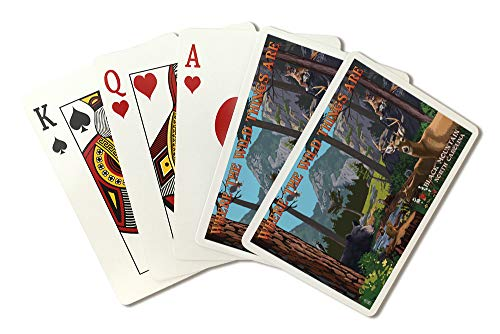 Black Mountain, North Carolina - Where The Wild Things are - Utopia (Playing Card Deck - 52 Card Poker Size with Jokers)