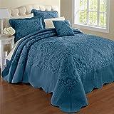 Brylanehome Amelia Bedspread (Blue,Full)