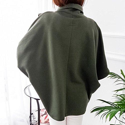 Casual Vest pour Printemps Pull Femme Hoodie Manches Sfit Longues Sweat Automne Vert Hiver 8wZqZ0x