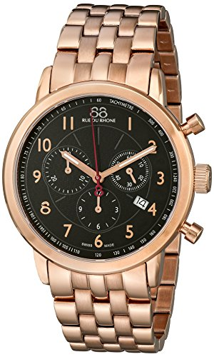 88-Rue-du-Rhone-Mens-87WA120049-Analog-Display-Swiss-Quartz-Rose-Gold-Watch