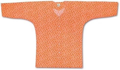 子供鯉口シャツ【江戸一】【江戸小紋】【オレンジ祭り】【7号】【在庫限り】