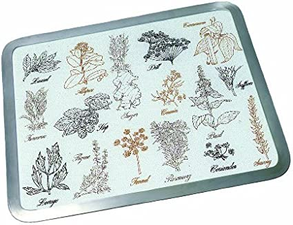 Vance 20 X 16 White Grapevine Surface Saver Tmpered Glass Cutting Board 82016GVW