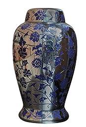 Urnporium Urn-EA-06105-BRA Exquisite Abode Brass Adult Cremation Urn