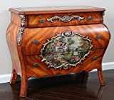 """Oliver and Smith - French Parisian Collection - Solid Wood Antique Accent Bombay Chest Dresser - Country Farm Home - 3 Drawer Cabinet - 99037 - 34.5"""" W x 29"""" H x 17"""" D"""