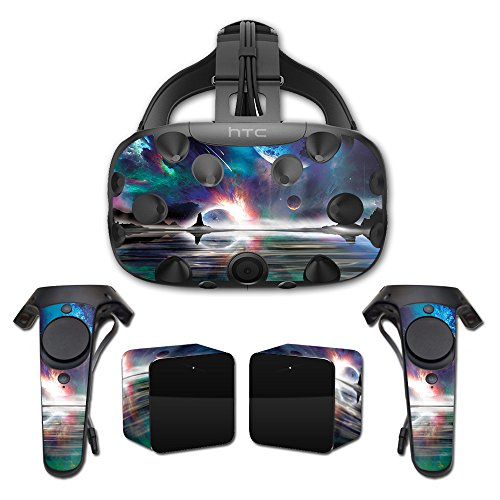 MightySkins Skin Compatible with HTC Vive Full Coverage - Space Horizon | Protective, Durable, and Unique Vinyl Decal wrap Cover | Easy to Apply, Remove, and Change Styles | Made ()