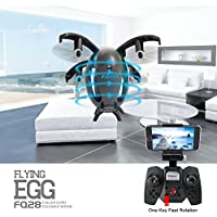 Wifi FPV Drone with 2.0MP HD Camera Live Video RC Quadcopter with Altitude Hold Gravity Sensor Function, Headless Mode and 3D Flip, Foldable Fuselage Egg Shaped Design,Easy Remote Control