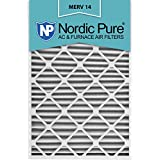 Nordic Pure 20x30x2 MERV 14 Pleated AC Furnace Air Filters, 20x30x2, 3 Piece