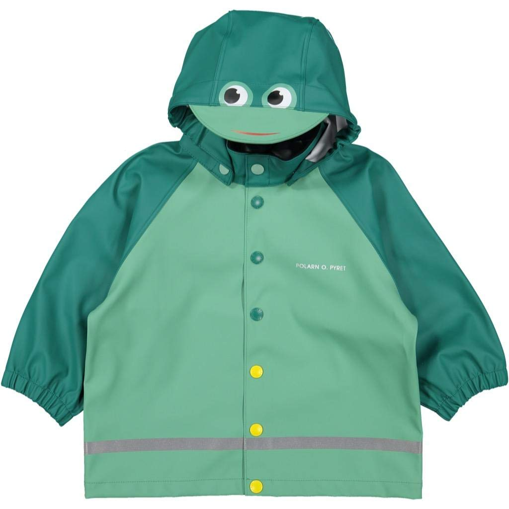 Polarn O. Pyret Ribbit Ribbit RAIN Jacket (1-2YRS) - 1-2 Years/Antique Green by Polarn O. Pyret