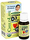 Child Life Organic Vitamin D3 Liquid, Natural Berry, 0.338 Fluid Ounce ( 1 Pack ) For Sale